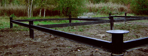 Винтовой фундамент для грунтов с высоким уровнем грунтовых вод.