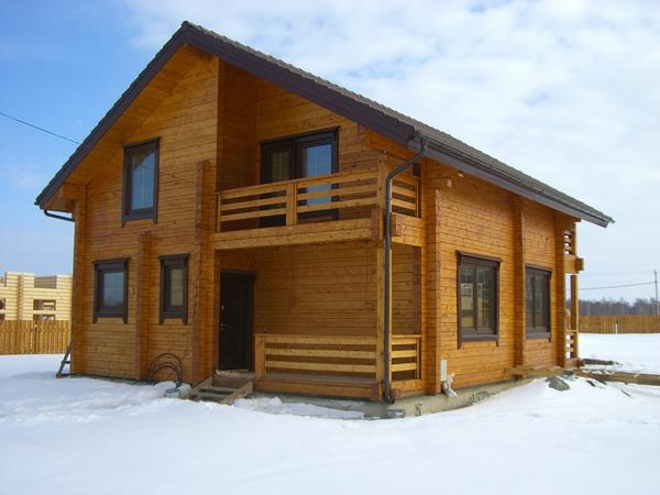 Пример дома из бруса