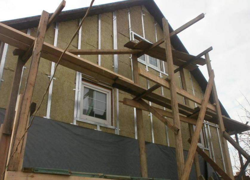 Пример ремонта фасада своими руками
