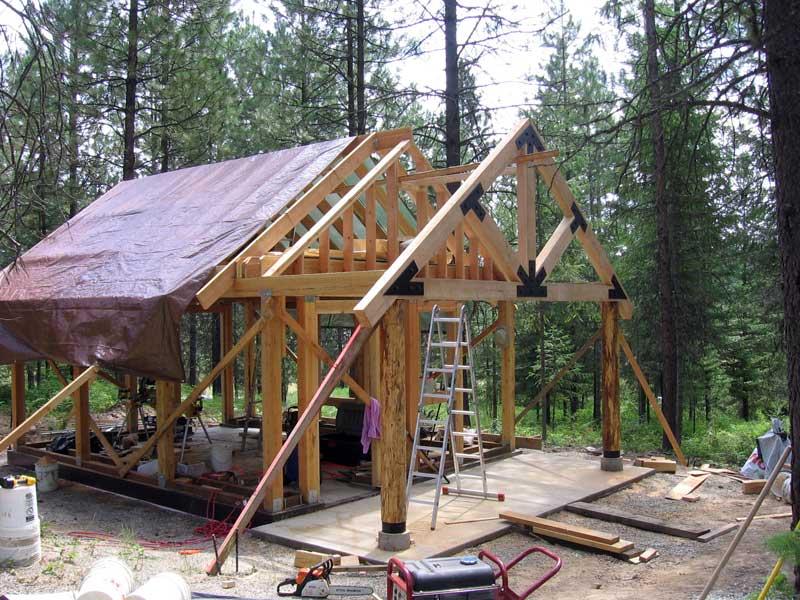 Крыша на столбах своими руками