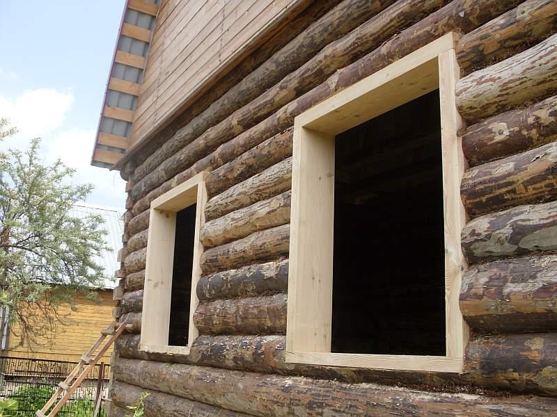 Пример устройства и ремонта окон и рам в деревянном доме