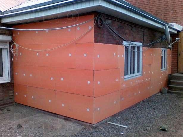 Обшивка плитами пеноплекс фасада