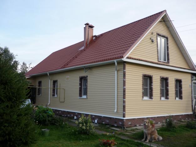 Сайдинг для отделки фасада деревянного дома