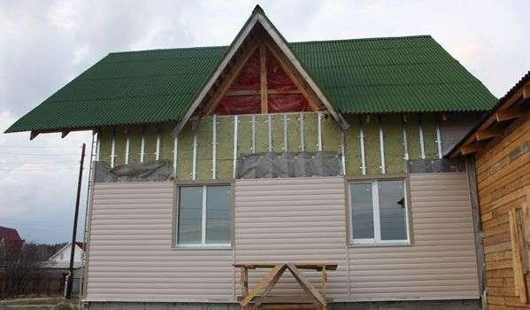 Устройство сайдинга с утеплителем в деревянном доме.