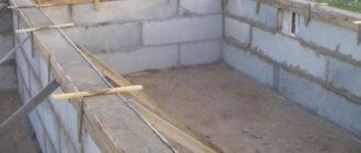 Цокольный этаж из фундаментных блоков