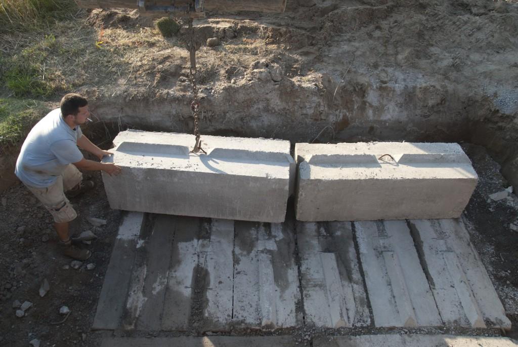 Цокольный этаж из блоков