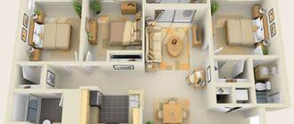 Визуализация планировки загородного дома