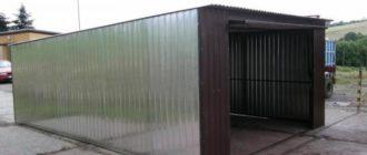 Металлический гараж из профилированного листа