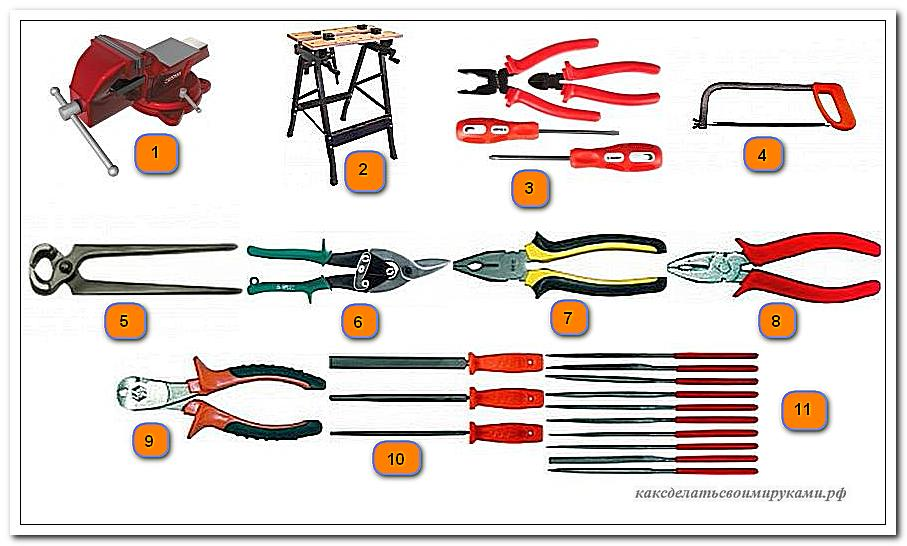 Инструменты для монтажа гаража