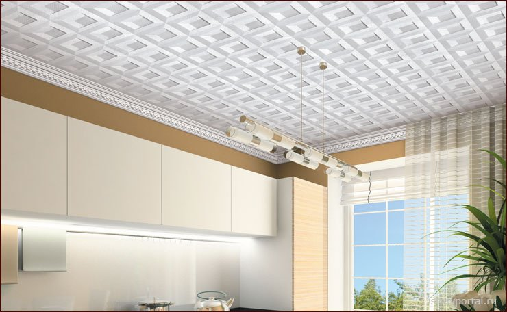 Дизайн потолка из пенопласта