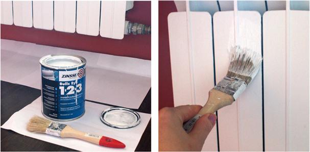 Необходимые материалы при покраске радиатора отопления