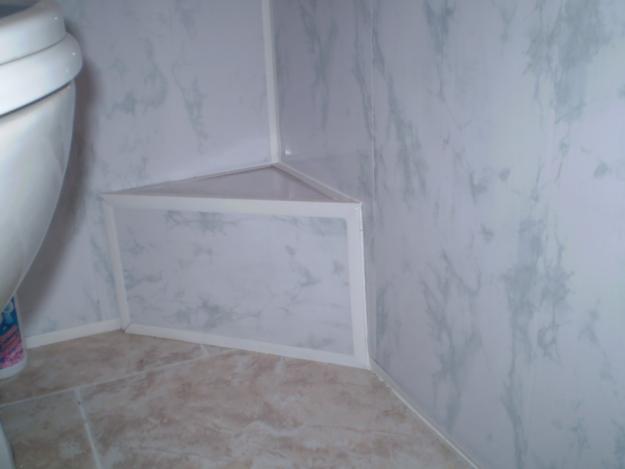 Пластиковые панели в туалете