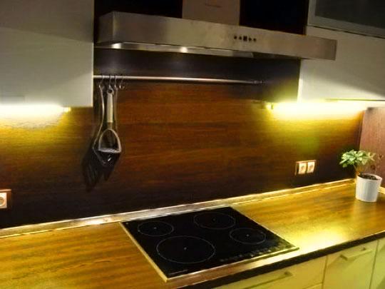 Пример мдф панели для кухни