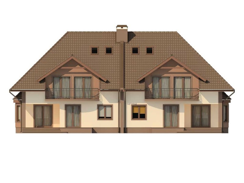 Проект дома на два хозяина