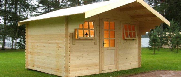 Пример устройства деревянного домика