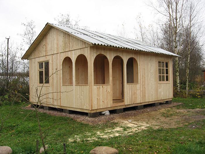 Садовый домик щитового типа