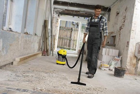 Пылесос для уборки строительного мусора